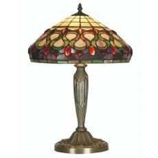 Oberon 1x100w 14 Inch Tiffany Glass Table/Bedside  Lamp OT 1420/14 TL